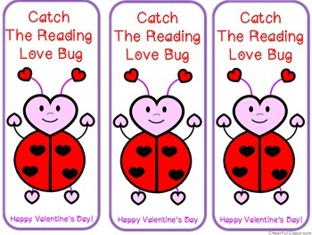 Valentine's Bookmarks (Lady Bug, Bee, Love Bug)