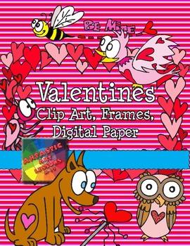 Valentine's Clip Art, Borders, and Digital Paper