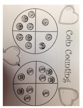 Valentines Coin Counting Game