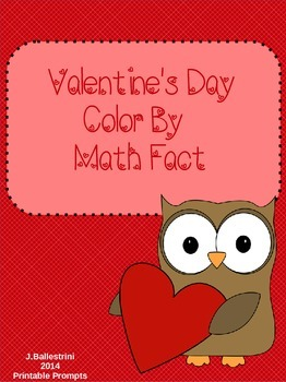 Valentines Color by Number and Math Fact