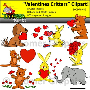 Valentines Critters Clipart