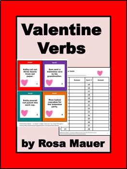 Valentine's Day Writing Verbs