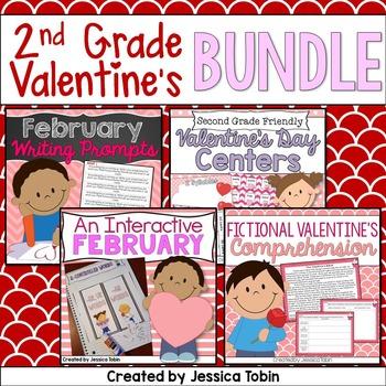 Valentine's Day 2nd Grade Bundle