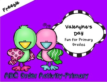 ~Valentine's Day~ ABC Order Activity for Primary Grades