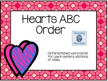 Valentine's Day ABC Order Center