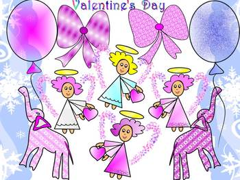 Angels - Clip Art - Valentine's Day Activities - Personal