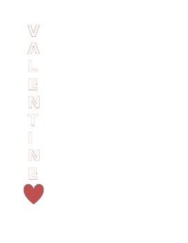 Valentine's Day Acrostic Poem Template