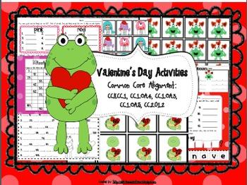 Valentine's Day Centers (Common Core Aligned)