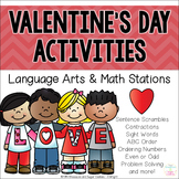 Valentine's Day Activities ~ Language Arts and Math Stations