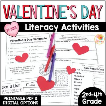 Valentine's Day Literacy Activities NO PREP