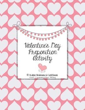 Valentine's Day Writing Activity - Preposition Practice (C