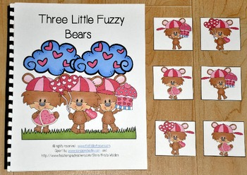 "Valentine's Day Adapted Book (Position Words)--""Three Litt"