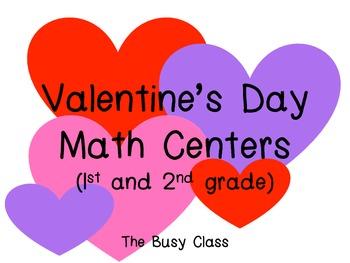 Valentine's Day Math Centers (1st-2nd)