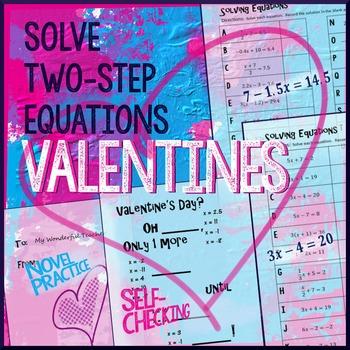 Valentine's Day Algebra Two-Step Equations