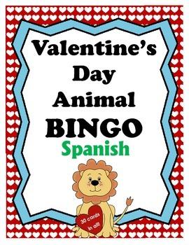 Valentine's Day Animal BINGO - Spanish Edition
