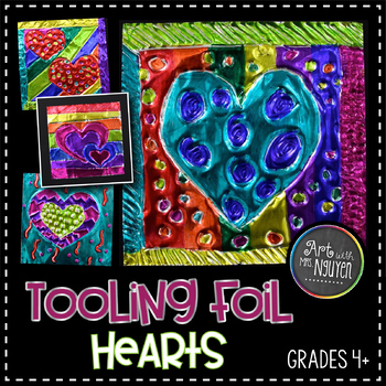 Art Lesson: Tooling Foil Pattern Hearts