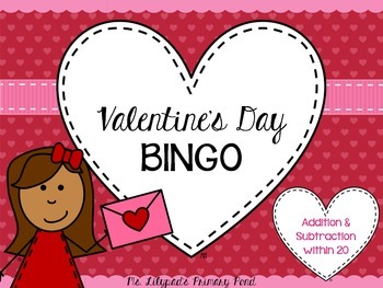 Valentine's Day BINGO for Second Grade {Addition, Subtract