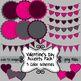 Valentine's Day Basic Clip Art Mini-Bundle ~ Papers, Frame