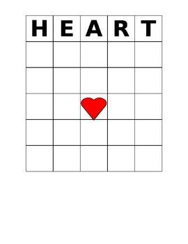 Valentine's Day Bingo Game HEART