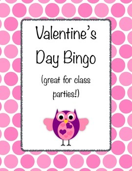 Valentine's Day Bingo: great for class party games!