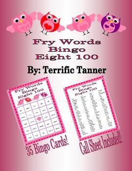 Valentine's Day Bingo with Fry's Eighth 100 Words