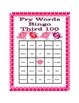 Valentine's Day Bingo with Fry's Third 100 Words