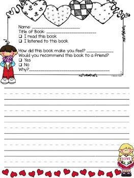 Valentine's Day Book Report