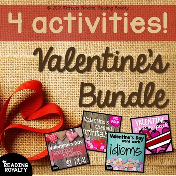 Valentine's Day Bundle: ELA and Math