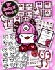 Valentine's Day Bundle Literacy & Math Games PreK Pre-K Ki