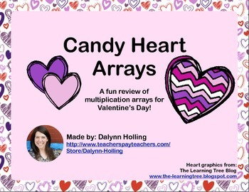 Valentine's Day Candy Heart Multiplication Arrays