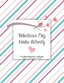 Valentine's Day Card - Poetry Activity (Haiku) Common Core