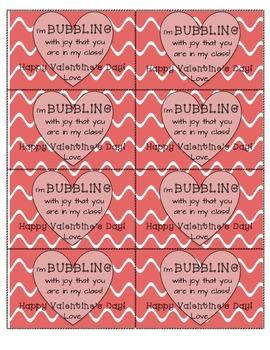 Valentine's Day Cards - Bubbles - Blow pops - Bubble Gum