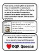 Valentine's Day Cards (Chevron/Hippo) with Fun QR Codes