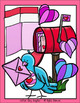 Valentine's Day Cards and Mailboxes Clip Art Set - Chirp Graphics