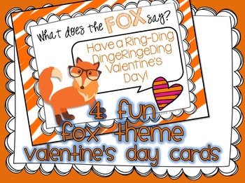 Valentine's Day Cards with Fox Theme