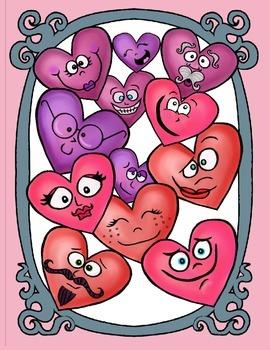 Funny Face Heart Clip Art