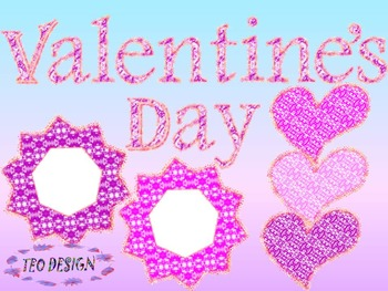 Valentine's Day - Hearts - Numbers - Clip Art - Personal o