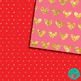 Valentine's Day Papers Glitter, Red, Pink and Golden Digit