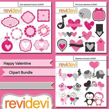 Valentine's Day Clip art (3 packs) Happy Valentine
