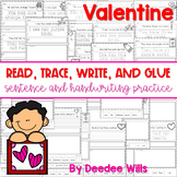 Valentines Day Color and Number: Read, Trace, Glue, and Draw