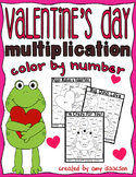 Valentine's Day Color by Number Multiplying