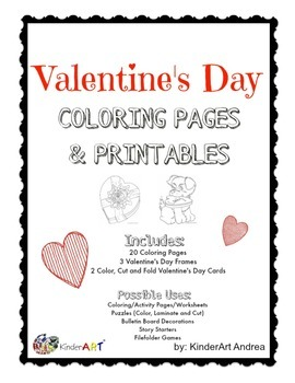 Valentine's Day Coloring Pages and Printables *FREE*