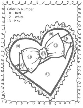 Valentine's Day Coloring Pages and Sight Word