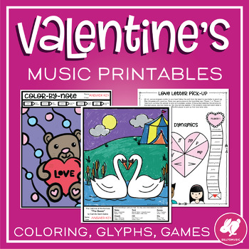 Valentine's Day Music Worksheets