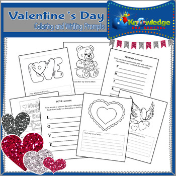 Valentine's Day Coloring & Writing Prompts