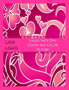 Valentine's Day Count and Color Picture