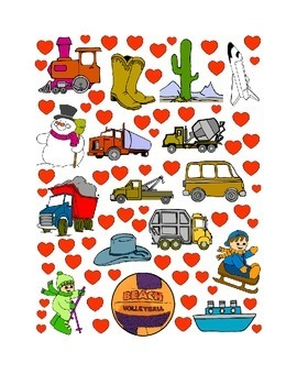 #28 Valentine's Day Count the Number of Hearts Printout