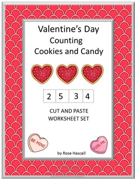 Valentine's Day's Counting Cookies No Prep for Math Center