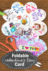 Valentine's Day Craft Card Foldable Writing & Coloring Lit