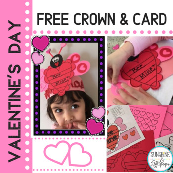 Valentine's Day Crown and Family Card Idea for Valentine's Day